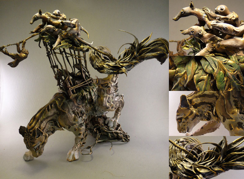 fantasy creature sculptures by ellen jewett 3 Incredibly Lifelike Animals Made from Pipe Cleaners