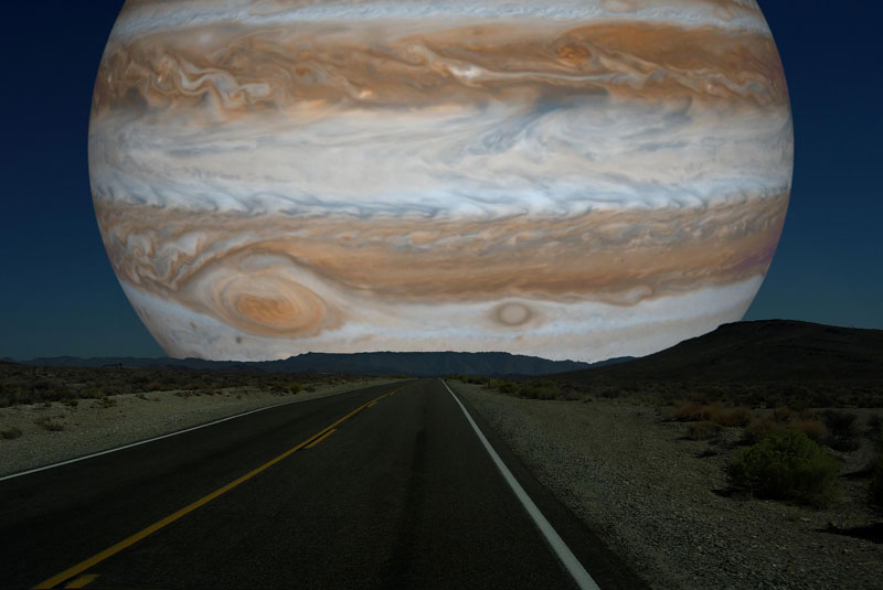 if jupiter was as close to earth as the moon What if Other Planets Were as Close to Earth as the Moon?
