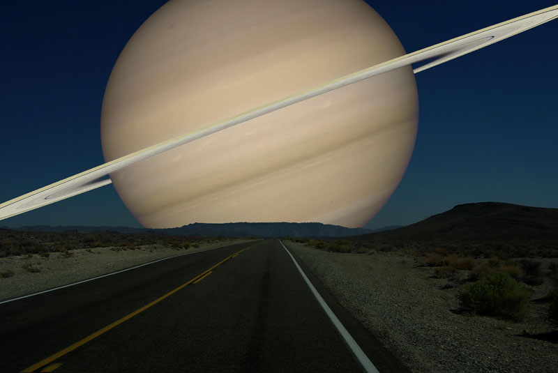 if saturn was as close to earth as the moon The Vastness of Space, Miniaturized
