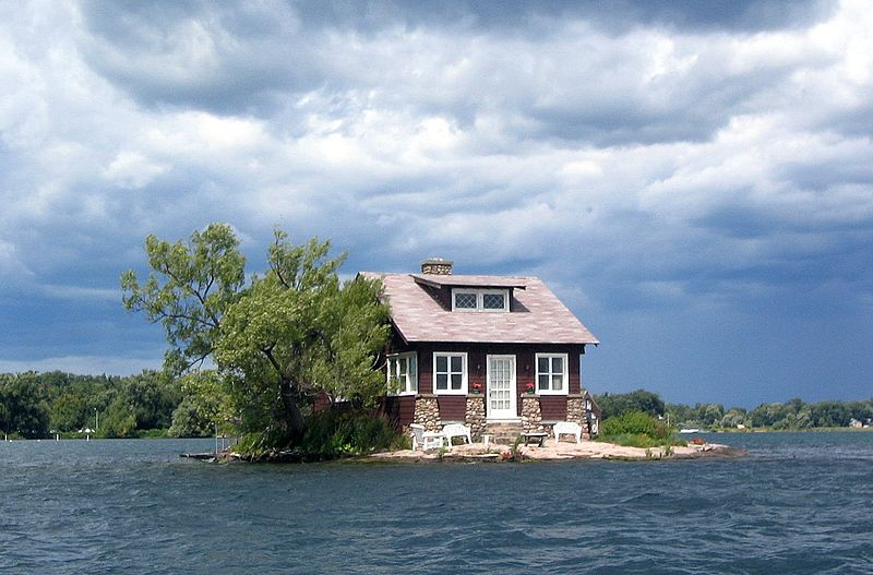 just room enough island Thousand Islands