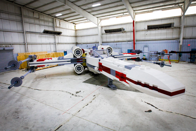 lego star wars x wing largest lego sculpture ever 4 This Guy Built a Millennium Falcon Quadcopter and Its Awesome