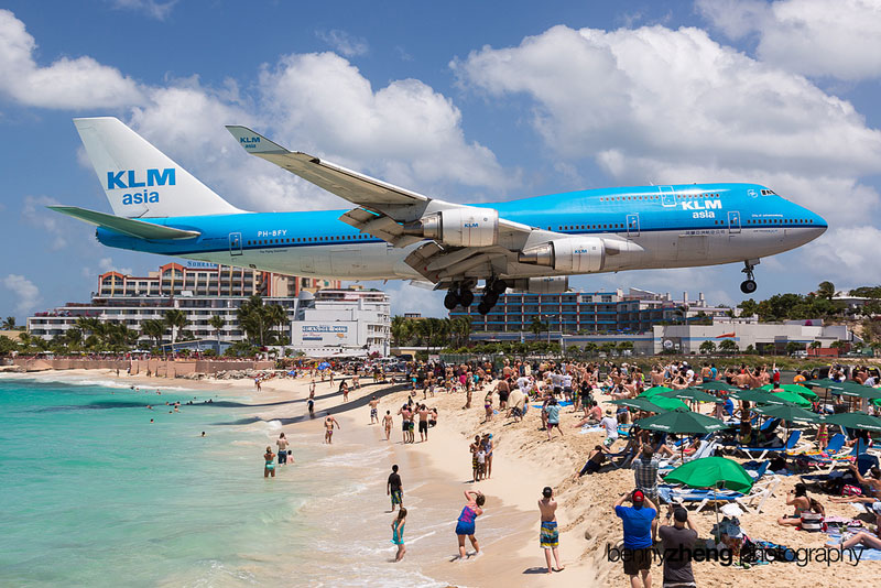 Extreme Plane Spotting at Maho Beach, Saint Martin