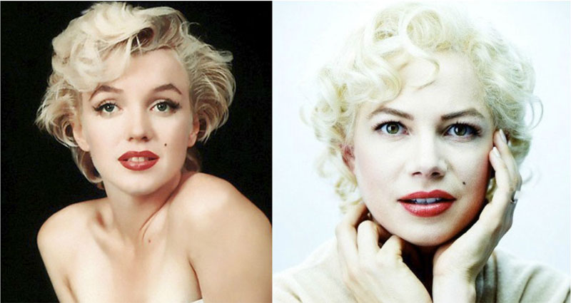 marilyn monroe michelle williams in my week with marilyn 15 Famous Eyeglasses