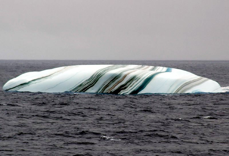 multicolored striped iceberg The Top 50 Pictures of the Day for 2013