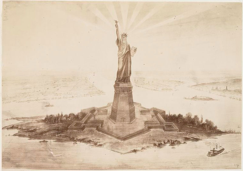 rare photos statue of liberty under construction 1883 (12)