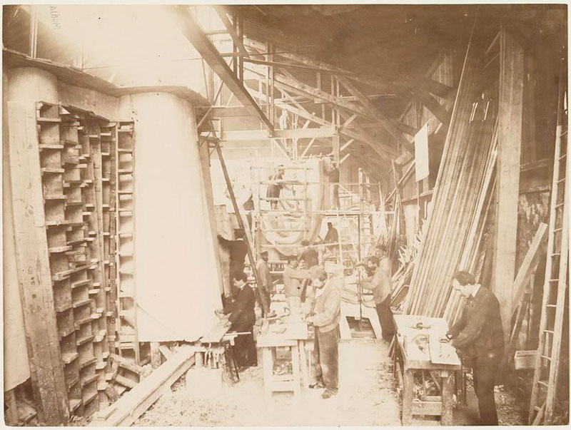 rare photos statue of liberty under construction 1883 (4)