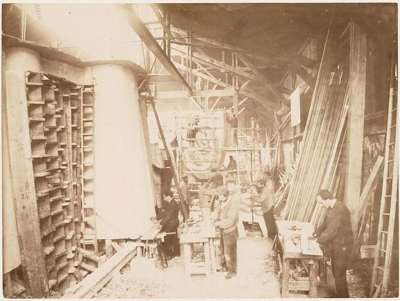 rare photos statue of liberty under construction 1883 (4)