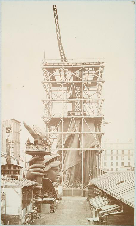 rare photos statue of liberty under construction 1883 (9)