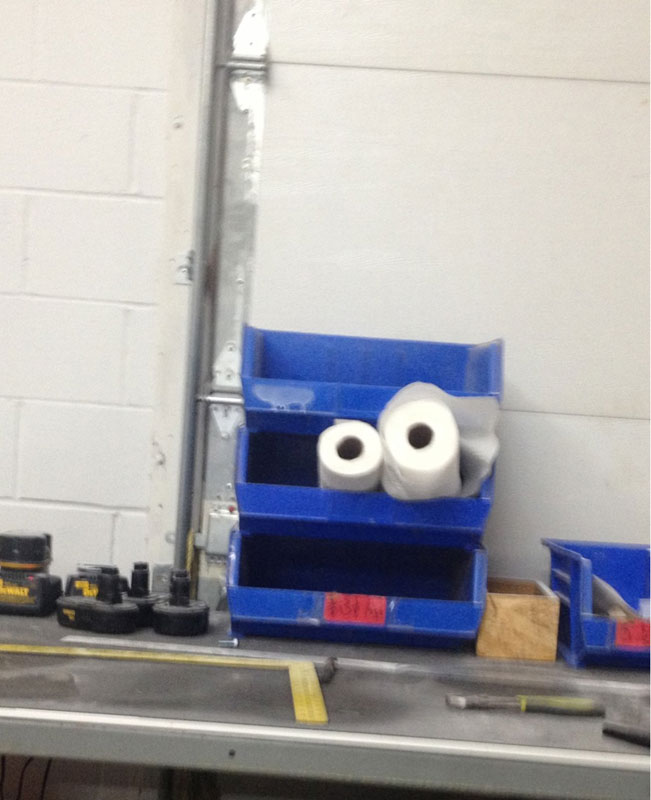 stacked bins paper towel cookie monster 50 Faces in Everyday Objects