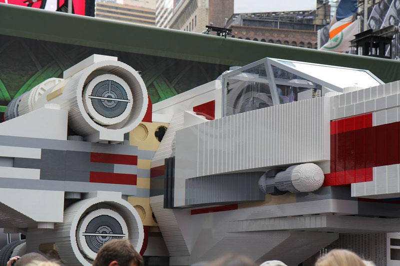 world�s largest lego model is a 53m piece xwing