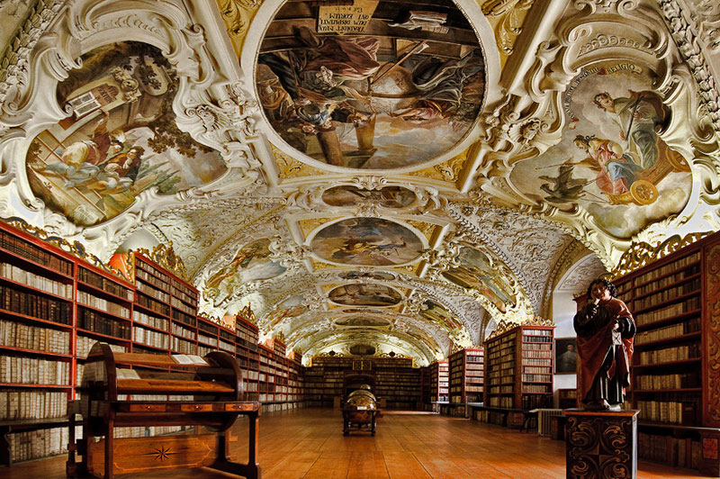 strahov monastery theological hall prague czech republic Picture of the Day: Strahov Monasterys Theological Hall