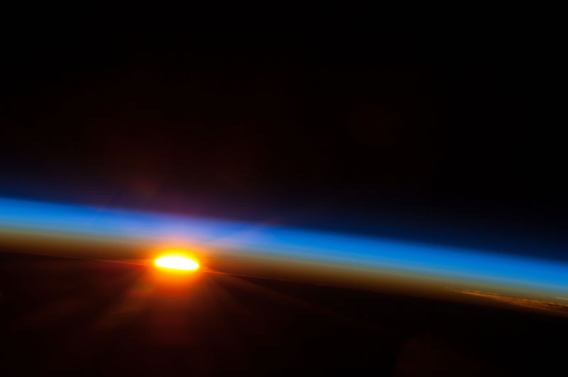 sunrise over the pacific ocean from the iss nasa space Picture of the Day: Sunrise from Space