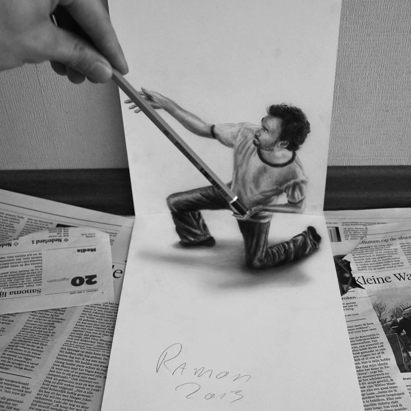 3d pencil drawings by ramon bruin jjk airbrush (7)