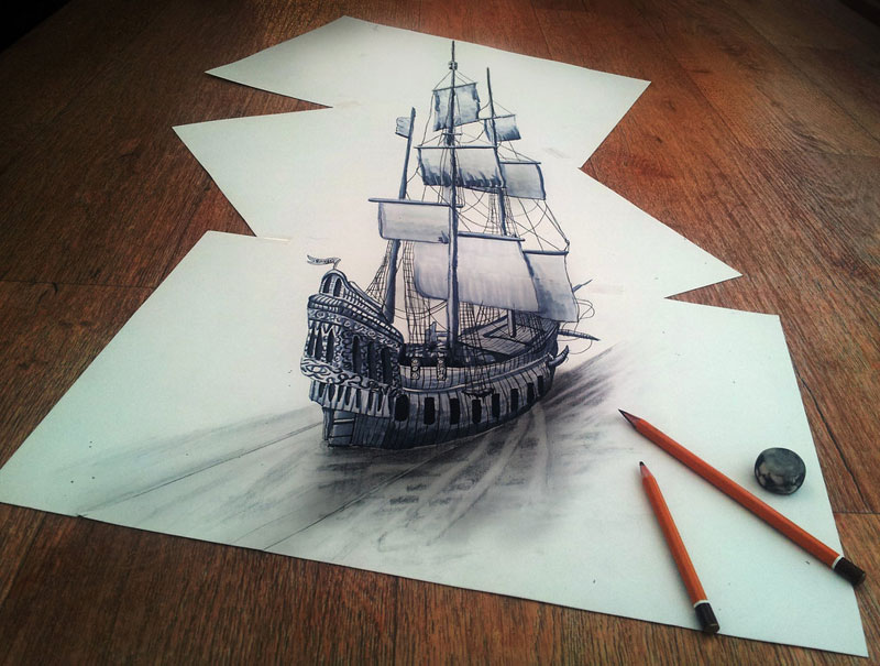 3d pencil drawings by ramon bruin jjk airbrush 9 These Artworks Come to Life When You Place a Mirror On It