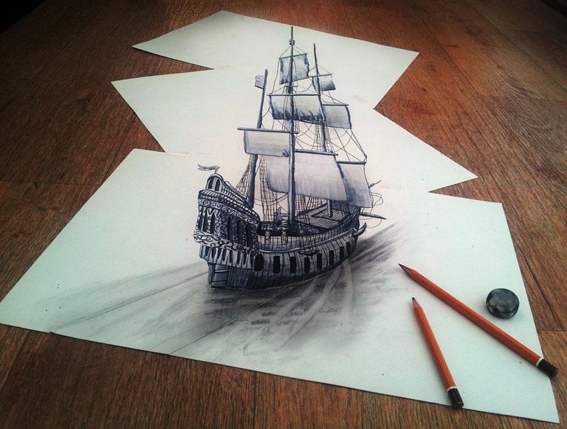 3d pencil drawings by ramon bruin jjk airbrush (9)