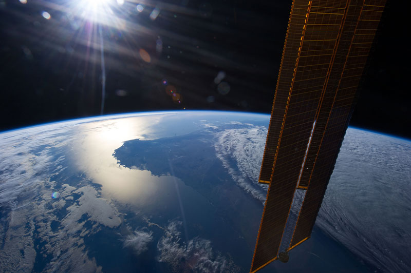 australian sunset from iss space Picture of the Day: Australian Sunset from Space