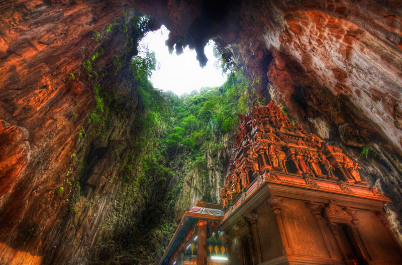 cathedral temple cave batu caves malaysia borneo Picture of the Day: The Temple Cave of Batu