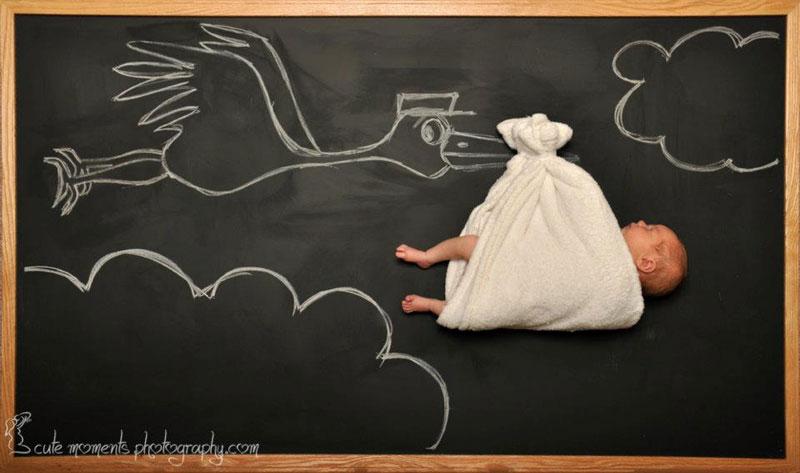 chalkboard advenutres of a newborn baby (1)