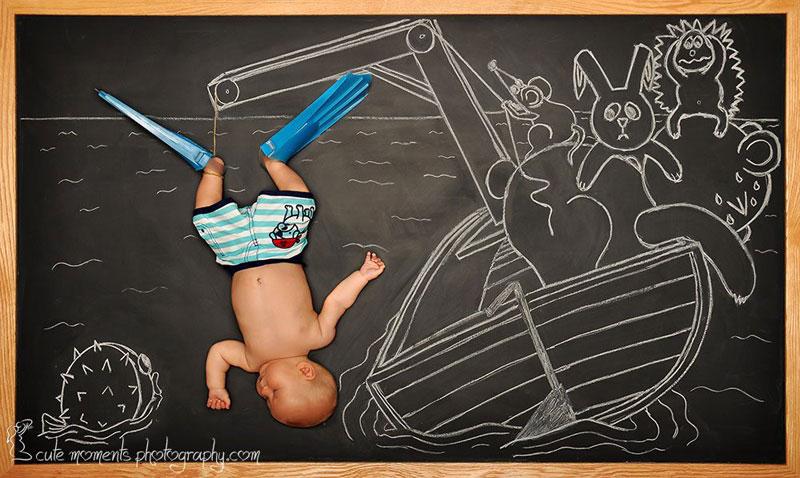chalkboard advenutres of a newborn baby (11)