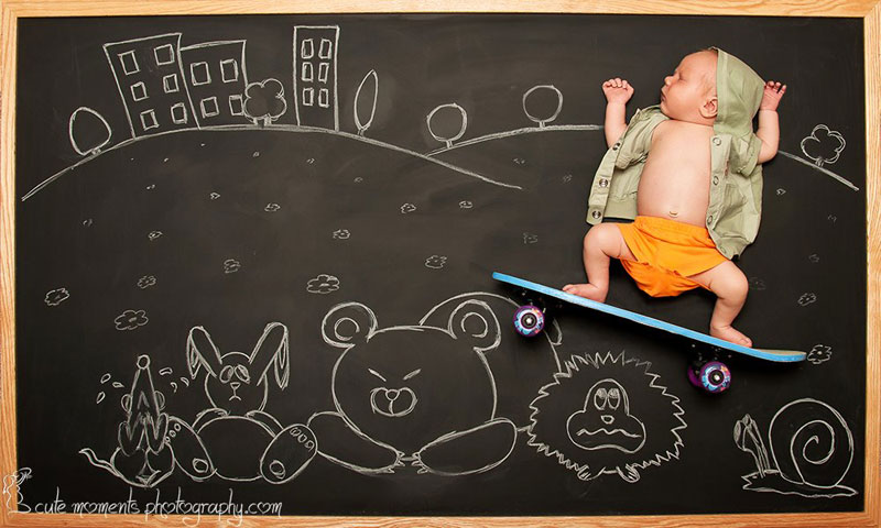 chalkboard advenutres of a newborn baby (4)