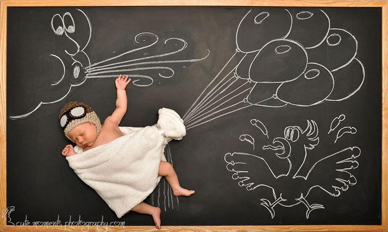 chalkboard advenutres of a newborn baby (7)