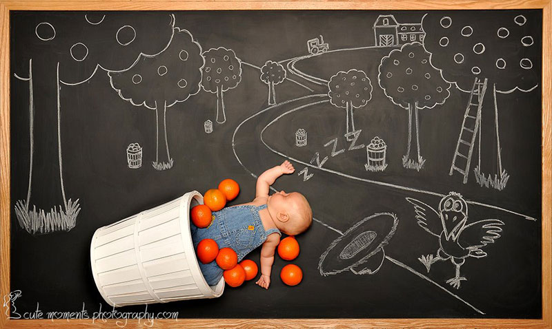 chalkboard advenutres of a newborn baby (9)