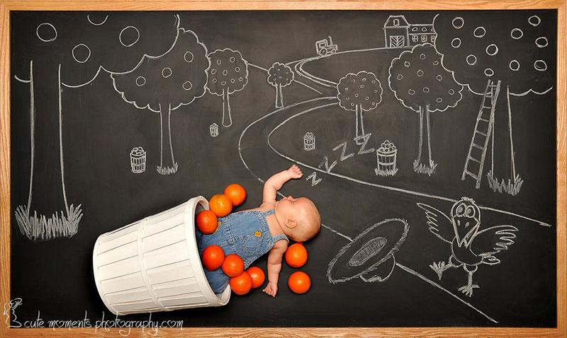 chalkboard advenutres of a newborn baby (9)