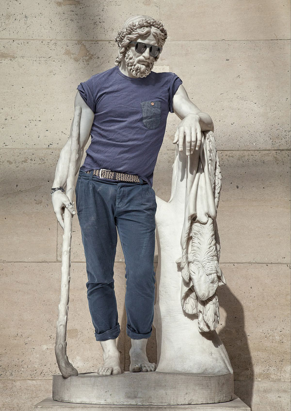 Classic Statues Dressed in Modern-DayClothes
