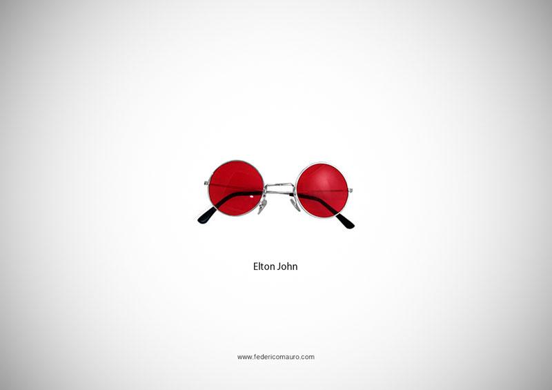 elton john glasses 15 Famous Eyeglasses