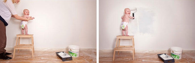 emil nystrom photoshops baby daughter into funny situations (11)