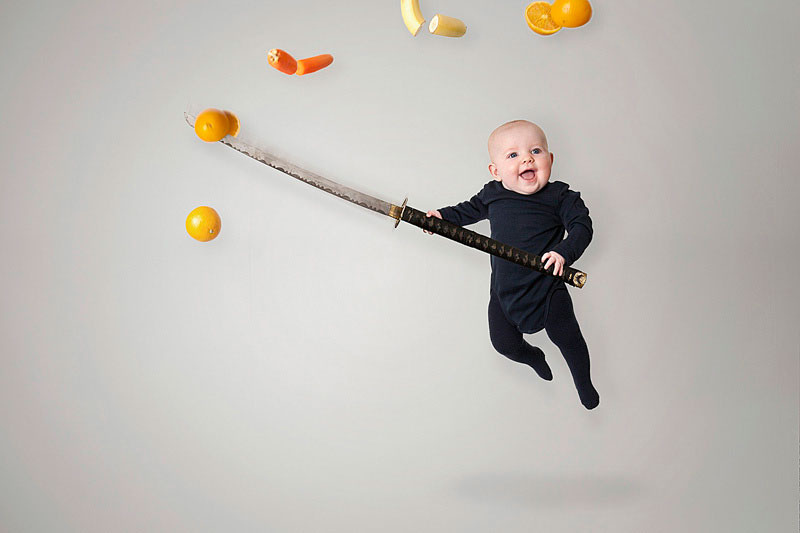 emil nystrom photoshops baby daughter into funny situations (9)