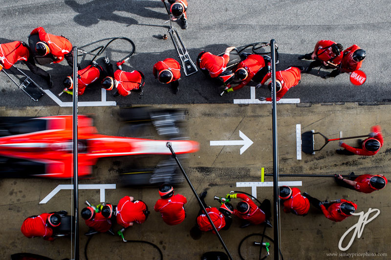 f1 pit stop from above Picture of the Day: F1 Pit Stop from Above