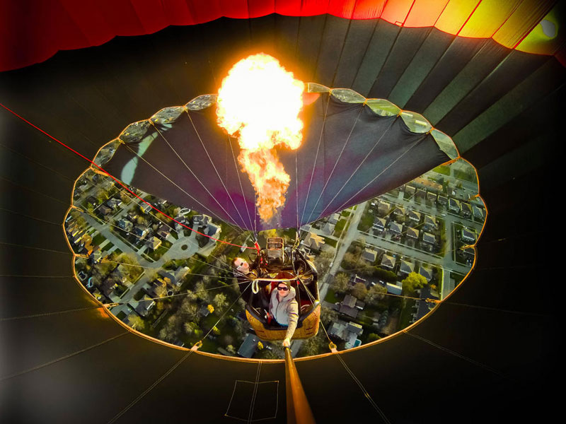 inside a hot air balloon go pro mark freeman cloud chasers Picture of the Day: Inside a Hot Air Balloon