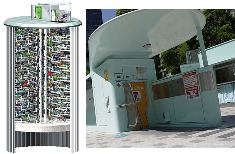 Japan's Automated Underground Bike Storage