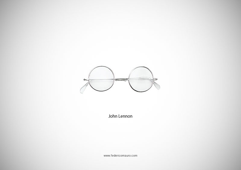john lennon glasses 15 Famous Eyeglasses