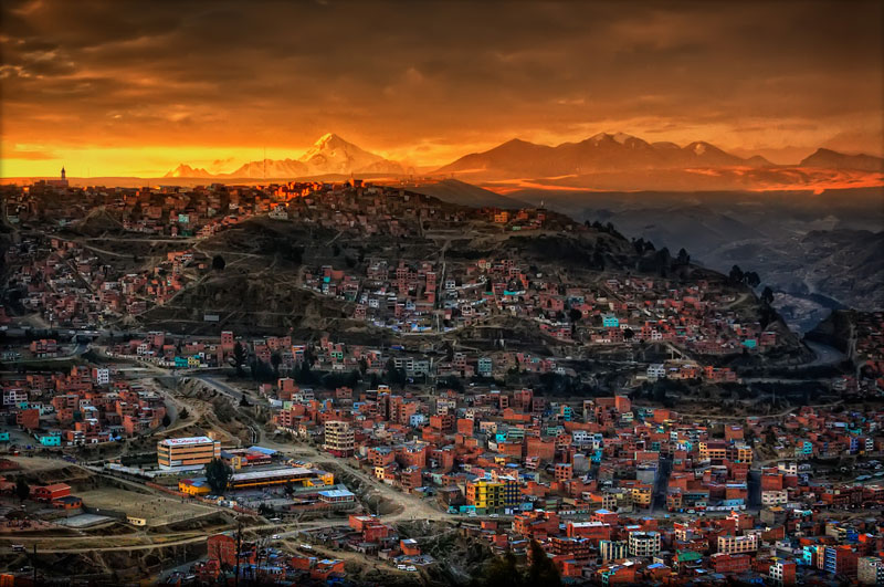la paz bolivia at sunset Picture of the Day: Sunset in La Paz