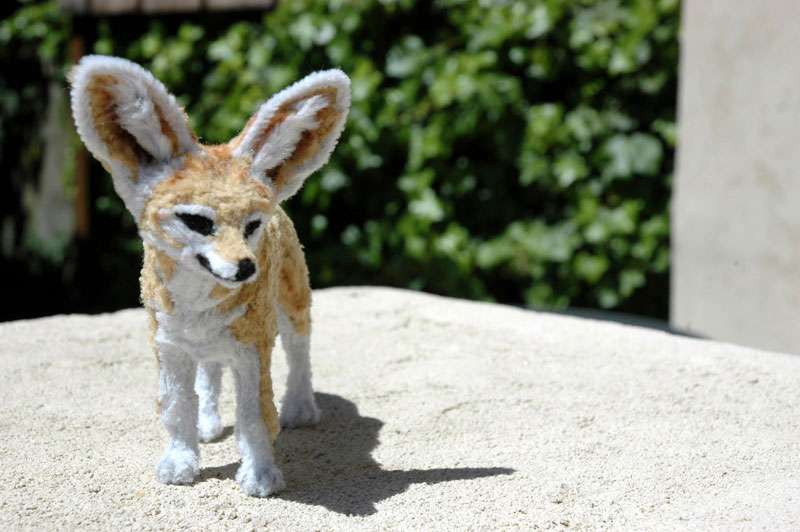 pipe cleaner chenille stem fennec fox by lauren ryan (1)