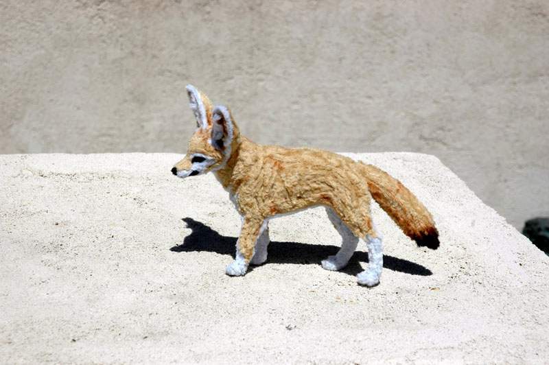 pipe cleaner chenille stem fennec fox by lauren ryan (2)