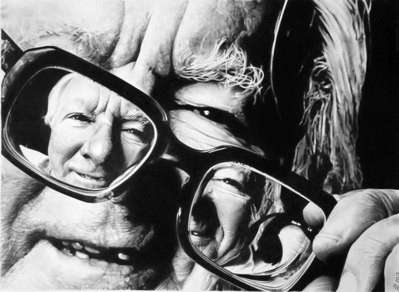 ray bradbury by francoclun d5zn64m Hyperrealistic Portraits Drawn with Pencil