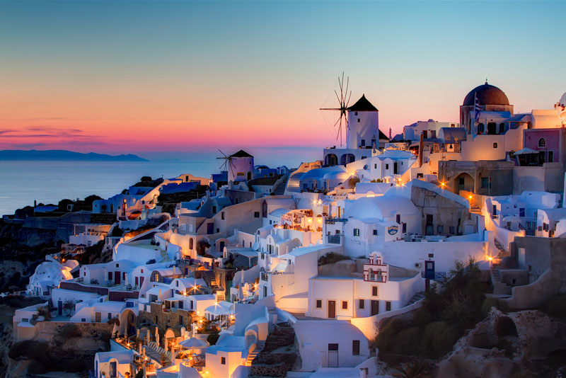 sunset oia santorini greece The Top 75 Pictures of the Day for 2013