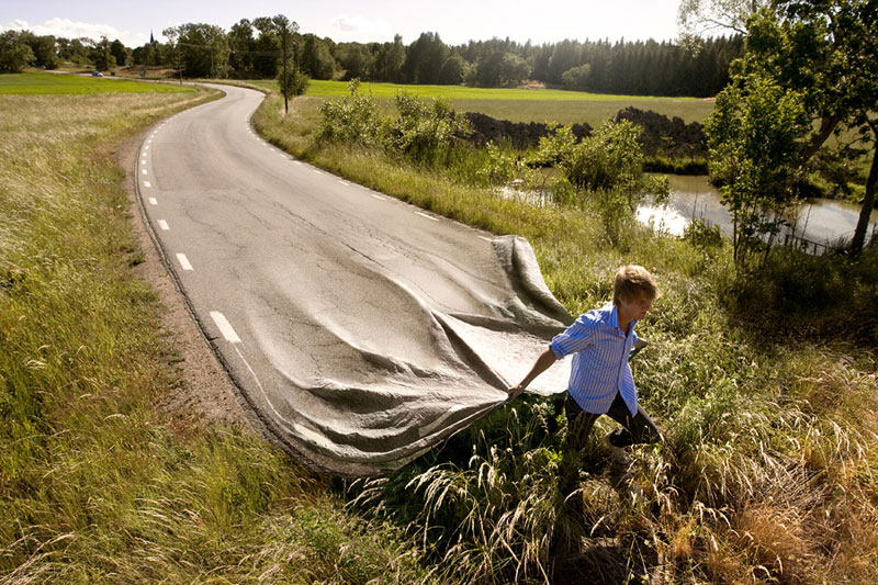 surreal photo manipulations by erik johansson 15 Surreal Self Portraits Blended Into Landscape Photos