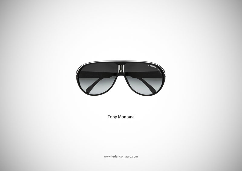tony montana glasses 15 Famous Eyeglasses