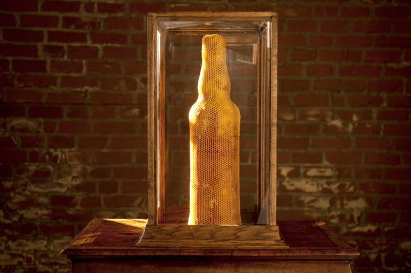 3-bee printing dewar's sid lee ebeling group honeycomb sculptures (2)
