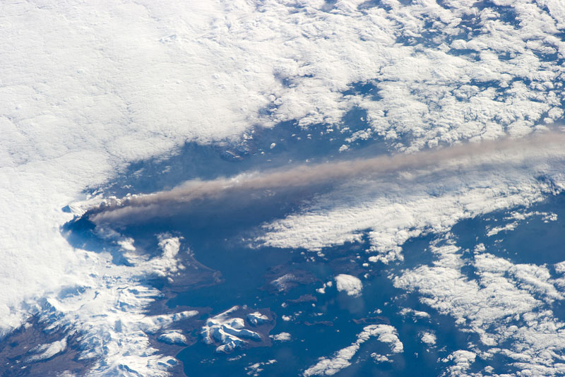 Alaska Pavlof Volcano from space aerial nasa 2