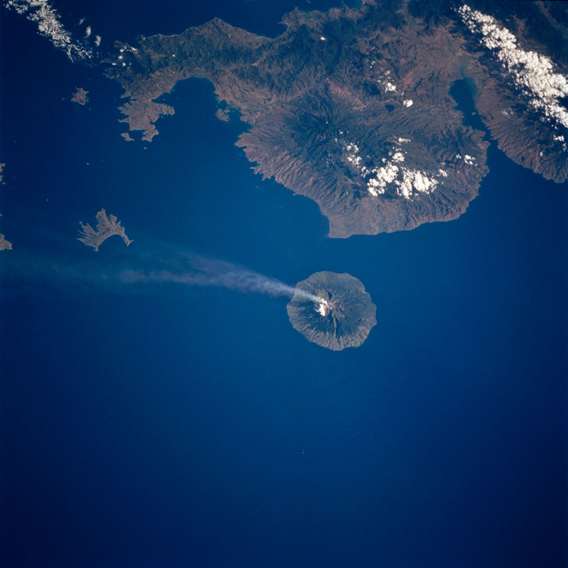 api volcano from space aerial nasa