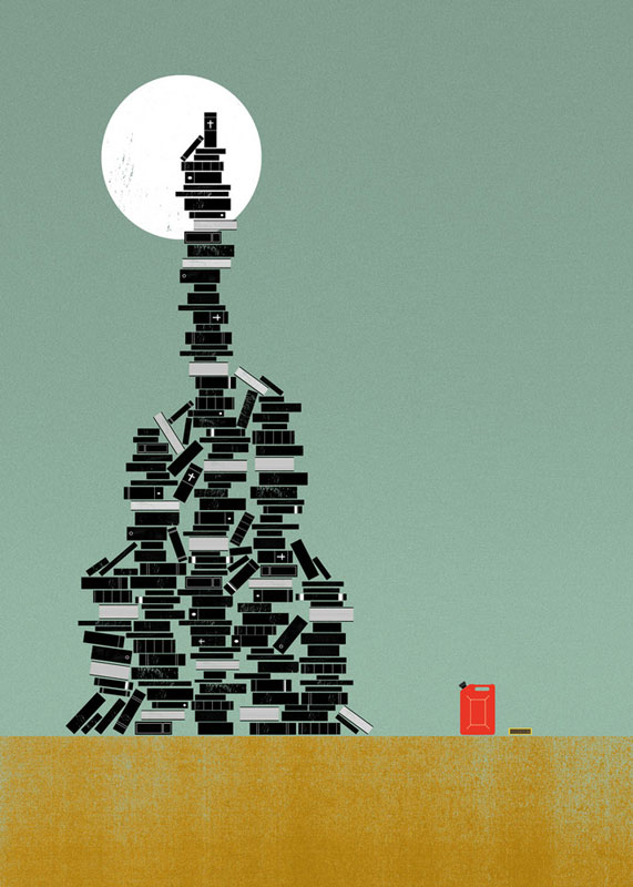 Biblioclasm Illustrations of Strange and Unusual Words by the project twins