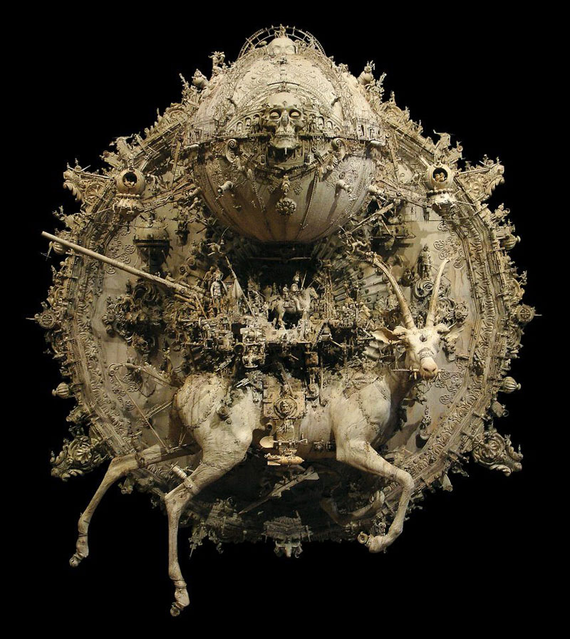 capricorn rising Mind Blowing Mixed Media Assemblages by Kris Kuksi