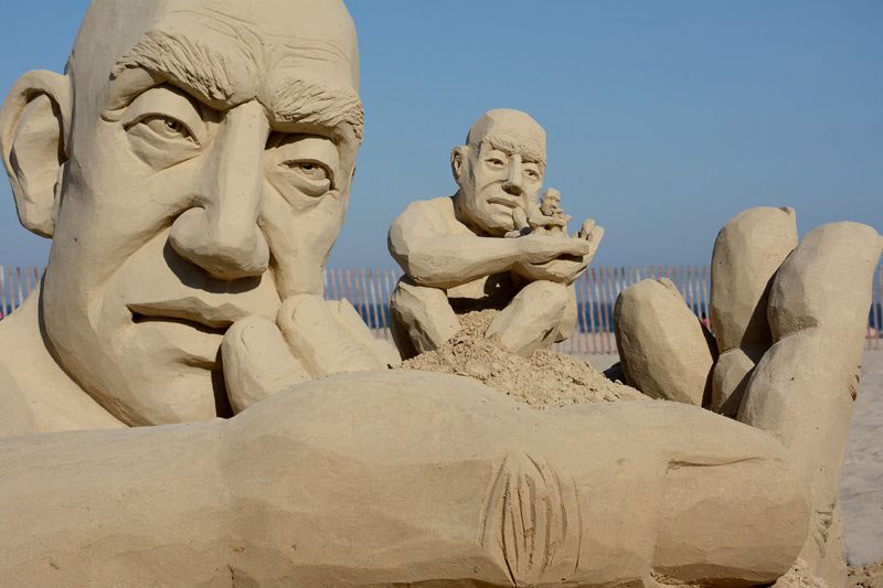 car jara hampton beach master sand sculpting competition first place The Infinity Sand Sculpture by Carl Jara