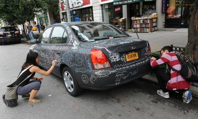 chalkboard art car philip romano new york (4)
