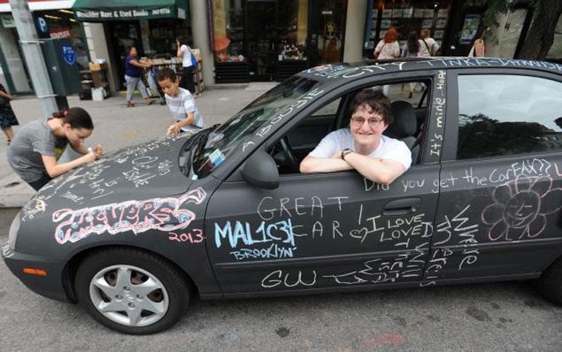 chalkboard art car philip romano new york (5)